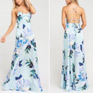 Show Me Your Mumu Godshaw Goddess Gown Mint Floral